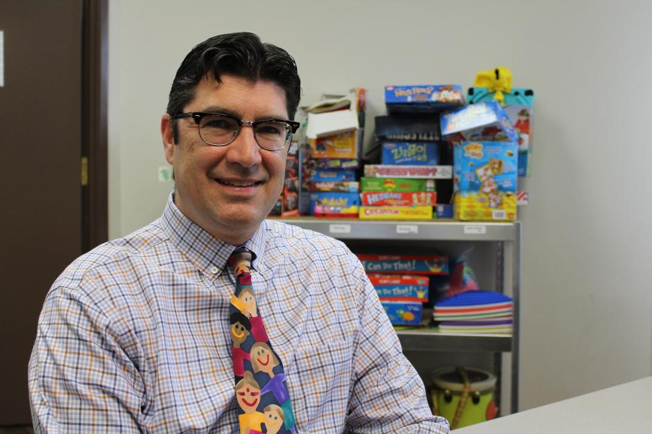Dr. Mario Gaspar de Alba at UNLV's Ackerman Center for Autism.